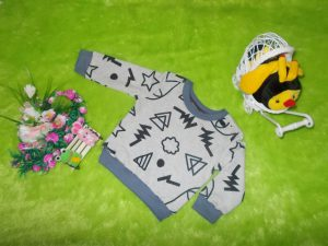 sweater bayi carter 1-2th abstrak abu
