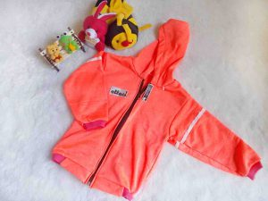jaket bayi 1-2th neon dusty orange