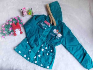 jaket anak battita waterproof anti air hello kitty tosca