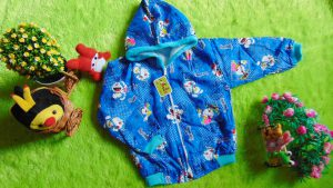 jaket bayi 1-3th doraemon biru uk L