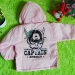 jaket bayi 0-2th waterproof – jaket anti air captain america pink