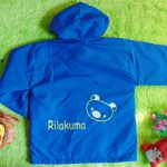 Jaket Anak 4-5th Anti Air Waterproof Rilakuma Biru