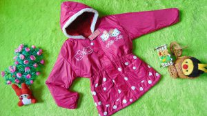 Jaket Anak 3-4th Anti Air Waterproof Hello Kitty Pink Fanta